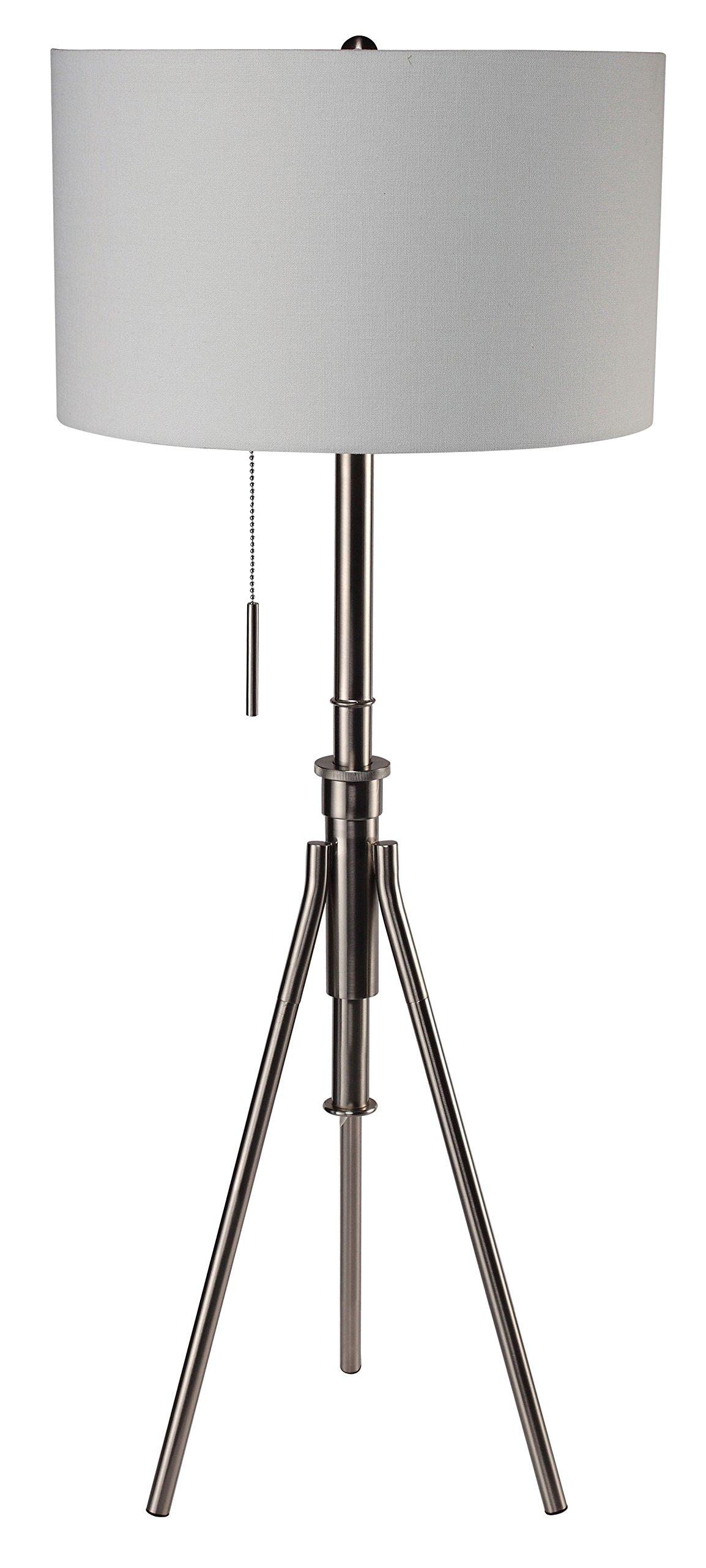 Furniture of America Lumi Tripod Floor Lamp Contemporary Style - Silver by Furniture of America