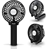 OPOLAR Handheld Portable Battery Operated Rechargeable USB Fan,Mini Personal fan with 2200mAh Battery and 3 Settings for Travel Home and Office Use ( Strong Wind, Adjustable Angle )- Multipurpose