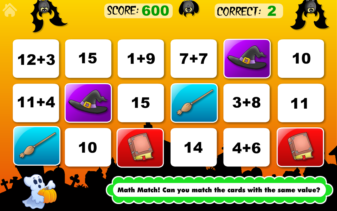 Math Bingo and Math Drills Challenge Learning Games for