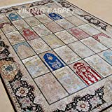 Yilong 6 x9  Persian Rugs Handmade Oriental Four Season Garden Scene Pattern Hand Knotted Home Carpet (Multi)...