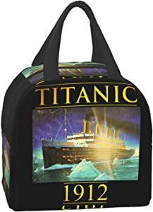 Titanic Lunch Bags, Reusable Lunch Box Bags for Boys, Girls and Children, Hot and Cold Food Insulation Bags Portable Bento