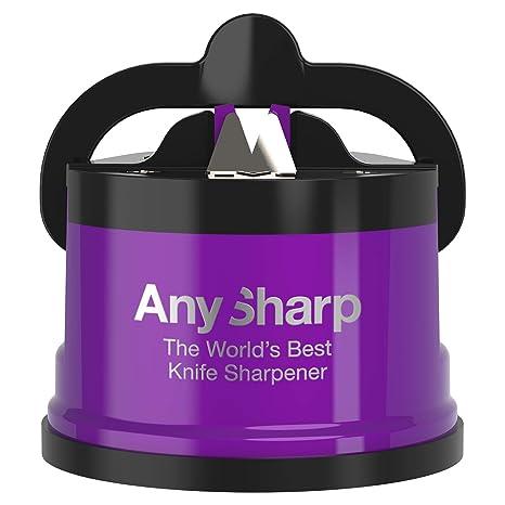 AnySharp Pro - Afilador de cuchillos de metal con ventosa
