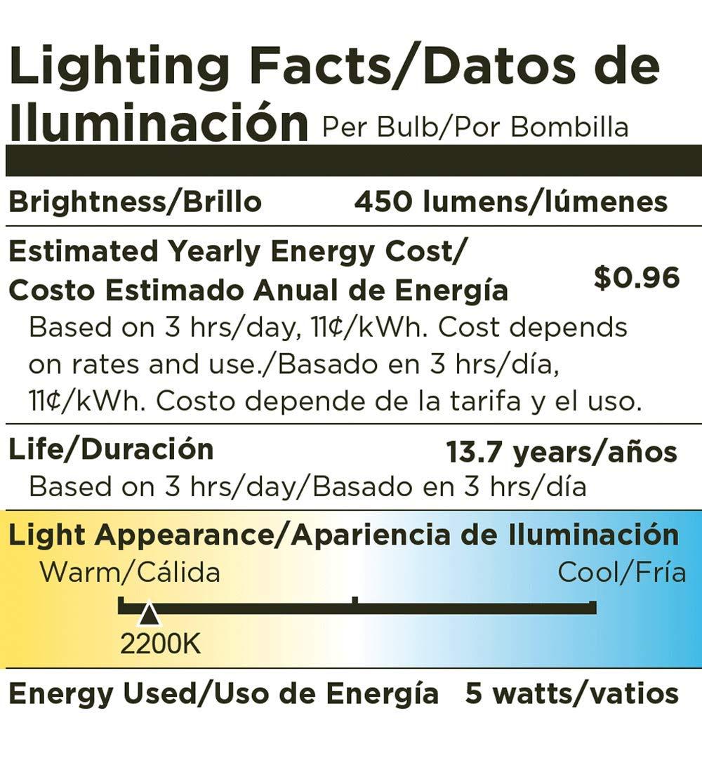 40 Watt Equivalent Light Bulb 410 Lumens Soft White 2700K Viribright Dimmable LED Vintage Bulb, LED Filament Bulb Energy Star /& UL Listed 2 Pack 641350-2SC ST19 Led Bulb w// E26 Edison Bulb Base 5W