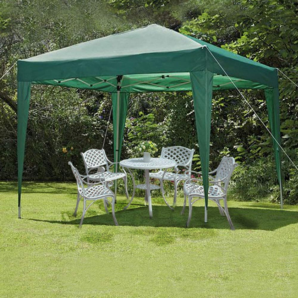 Cliselda - Cenador de jardín Impermeable con Paredes Laterales, Revestimiento de PVC, con Capa Protectora Plateada, Bolsa de Transporte incluida, Color Verde: Amazon.es: Jardín