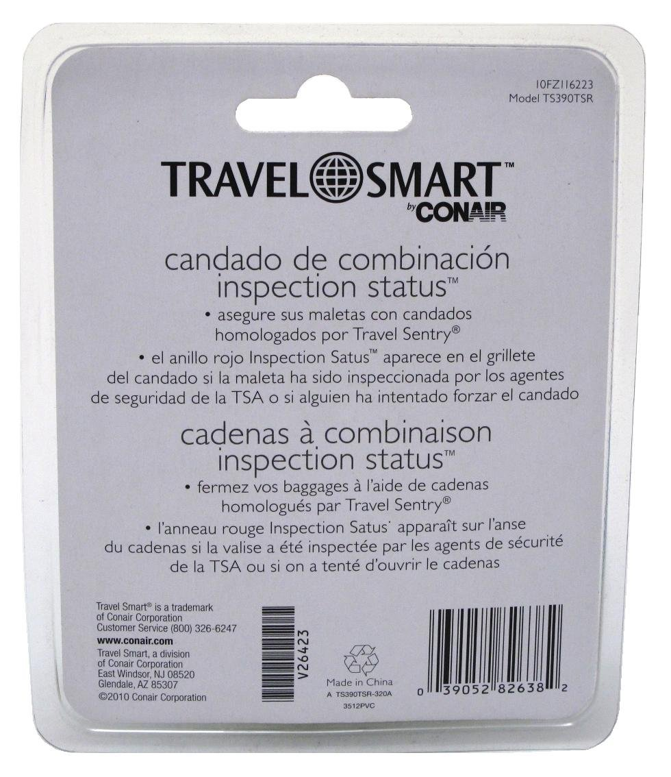 Conair Travel Smart 3-Dial Combination Lock (6 Pack)