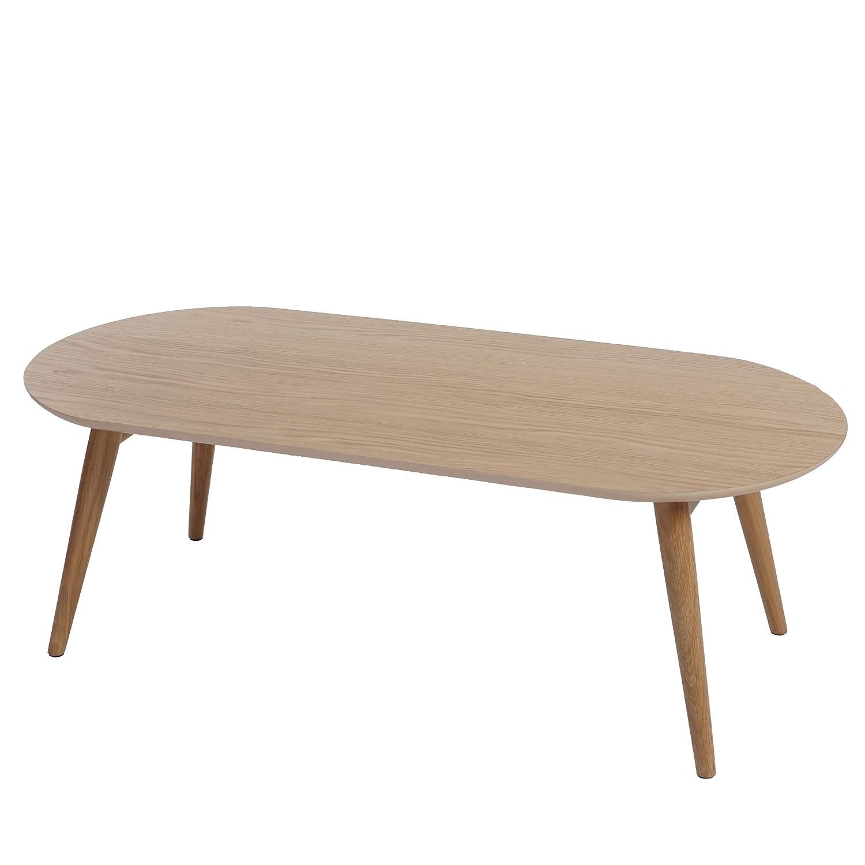Table basse Bagheria - table de salon - d'appoint - 40x120x55cm chêne - pliable