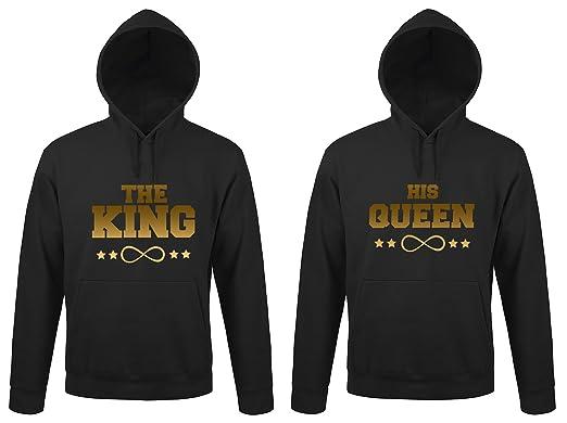 SE-creation   Partner Look Hoodies  quot THE KING quot  mit  quot HIS c971b152f7