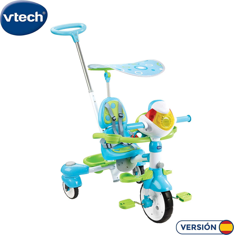 VTech Triciclo Inteligente Evolutivo 4 en 1 tek-Trike, Color Verde (3480-196822)