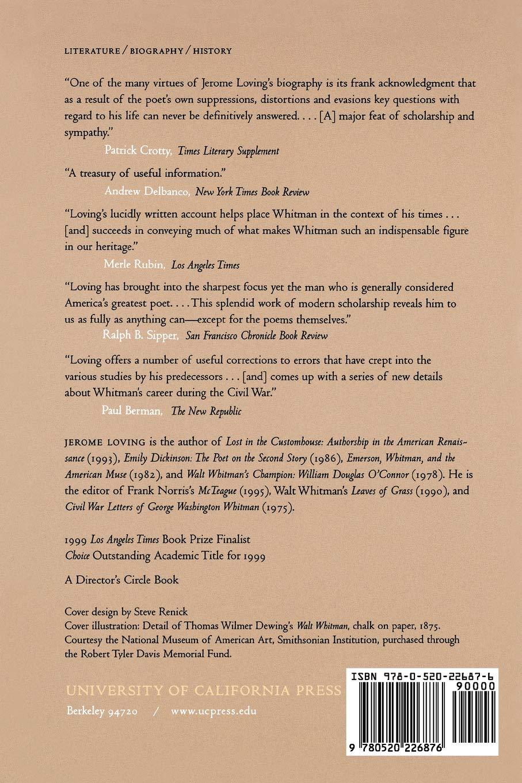 Amazon.com: Walt Whitman: The Song of Himself (9780520226876): Jerome  Loving: Books