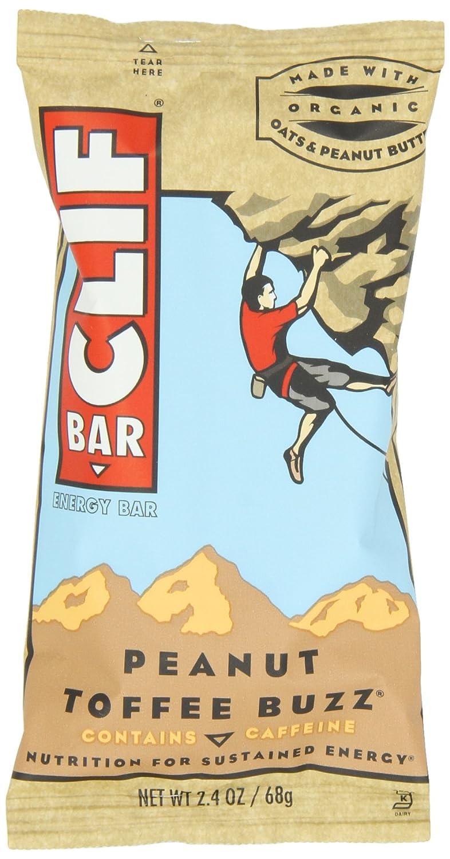 Clif Bar, 2.4 Ounce - Organic Peanut Toffee Buzz (12 Pack)