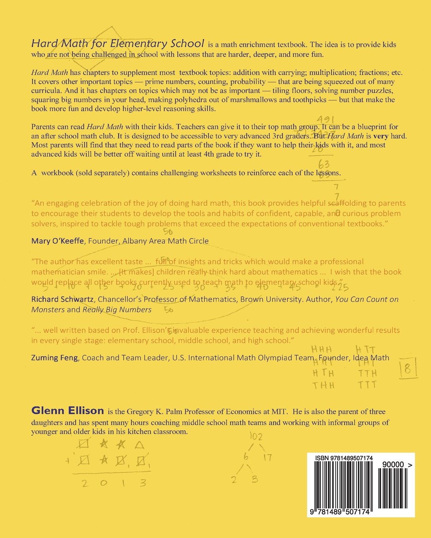 Magnificent Hard Math For Elementary School Glenn Ellison 9781489507174 Easy Diy Christmas Decorations Tissureus