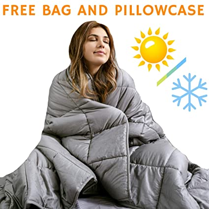 Snuggle Pro Weighted Blanket Adult 15 Lbs Heavy Blanket For Sleeping 60 X80 Queen Size The Best Calming Blanket Premium Cotton Cooling