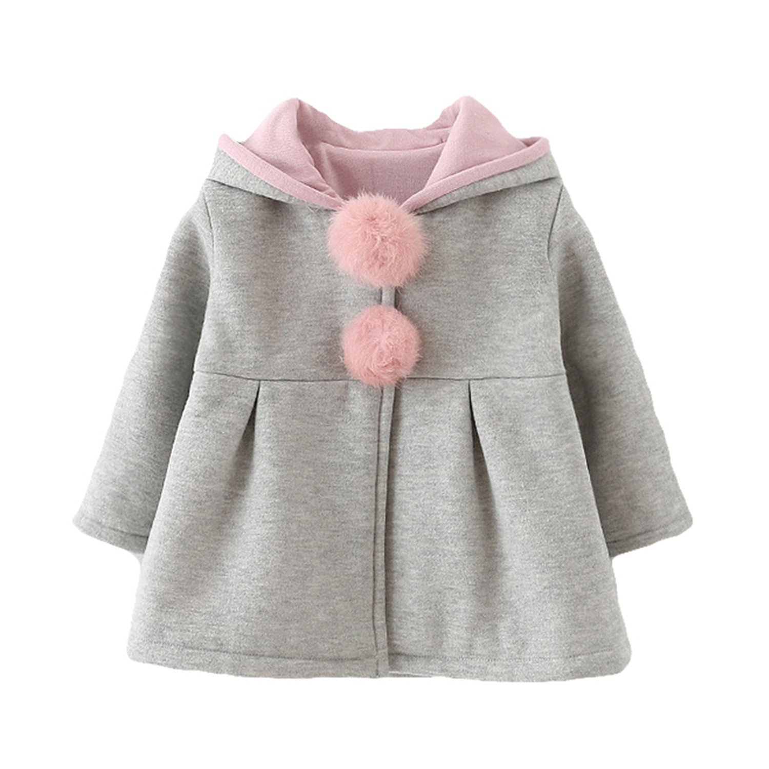 77fff0c41 Amazon.com  Mofgr Spring Children Jackets Baby Girl Rabbit Autumn ...
