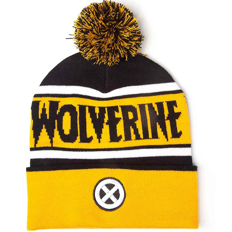 Wolverine Beanie Bobble Hat X Men Logo Official Marvel Yellow Marvel Merch