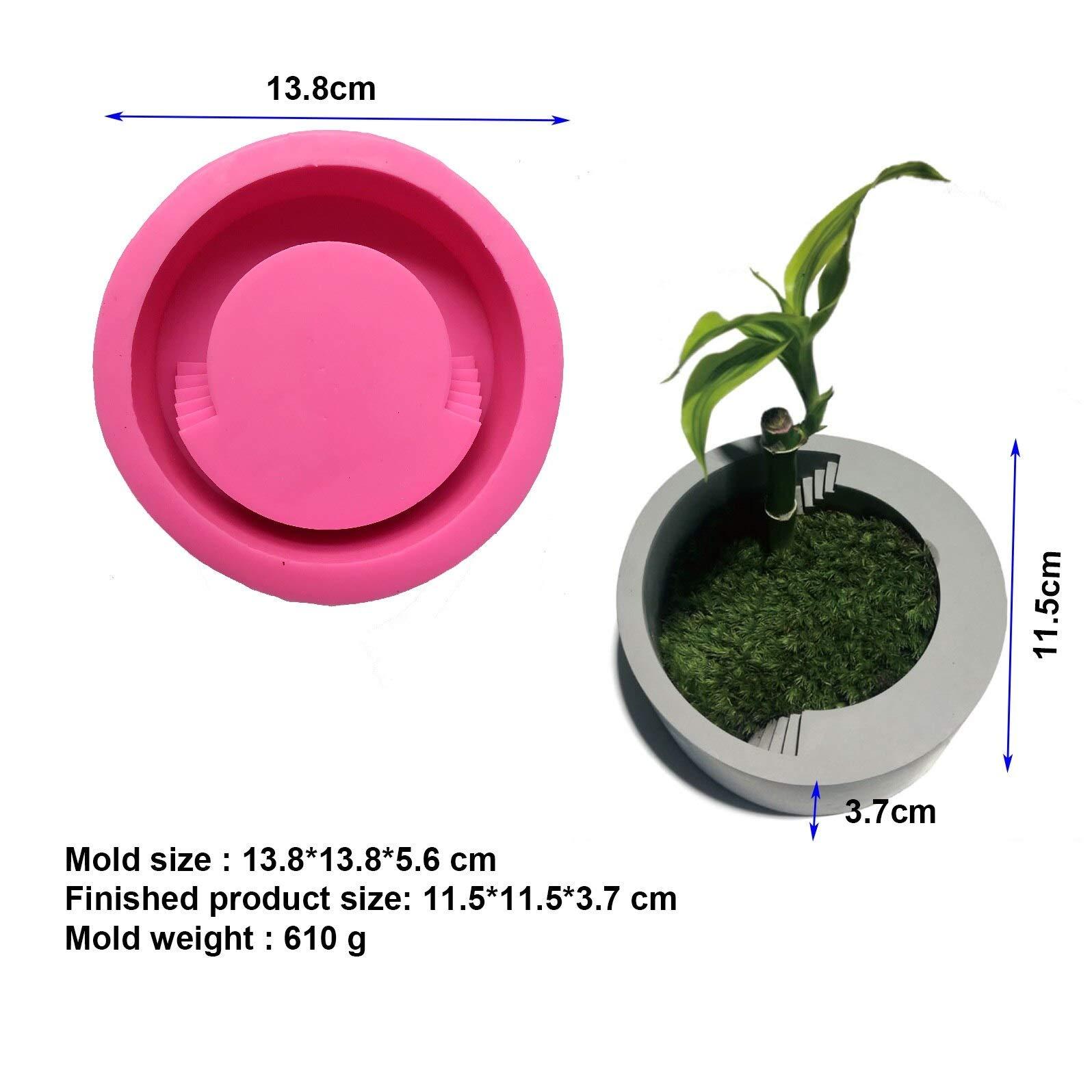 Concrete Planter Best Quality - Clay Molds - Modern Simple Concrete Craft Decorating Flowerpot Silicone Mold Handmade Desktop Cement Planter Molds for Flower Pot vase Making - by GTIN - 1 PCs