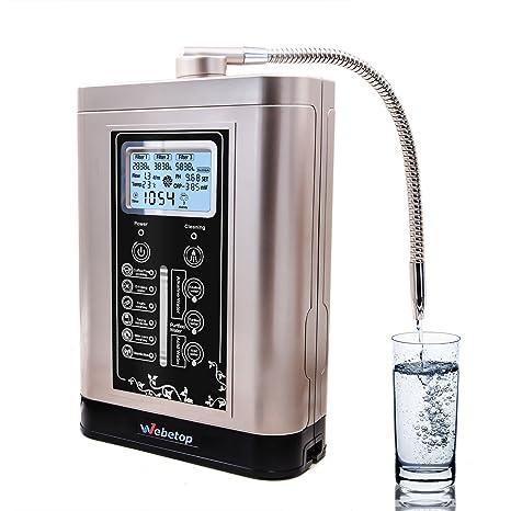 Webetop agua ionizador y purificador de agua Máquina PH 3,5 – 11 ácido Alcalina