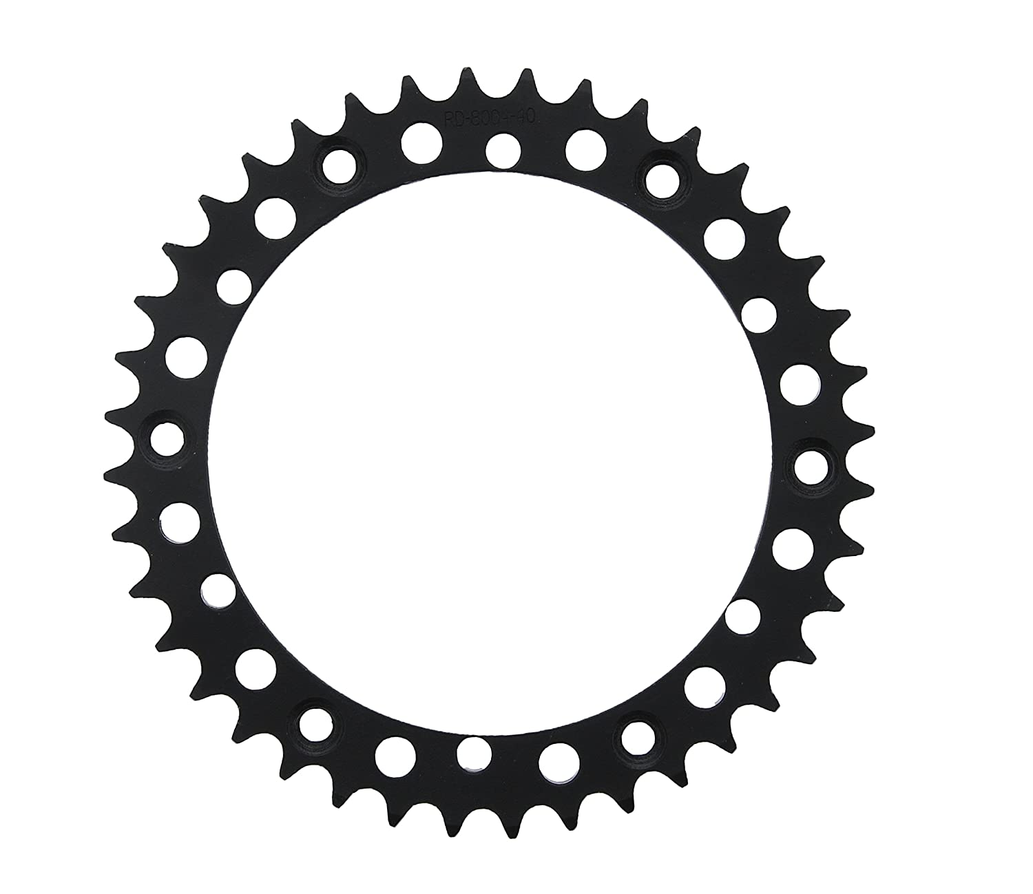 98-2000 fits Yamaha YFM350 350 Warrior 12 Tooth Front /& 40 Tooth Rear Black Sprocket