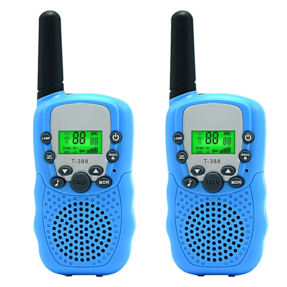 Aphse Kids Walkie Talkie Two Ways Radio Toy Walkie Talkie for Kids 3 Miles Range 22 Channels Built in Flash Light FRS GMRS Handheld Mini Walkie Talkie for Outdoor Adventures Camping Hiking Set of 2