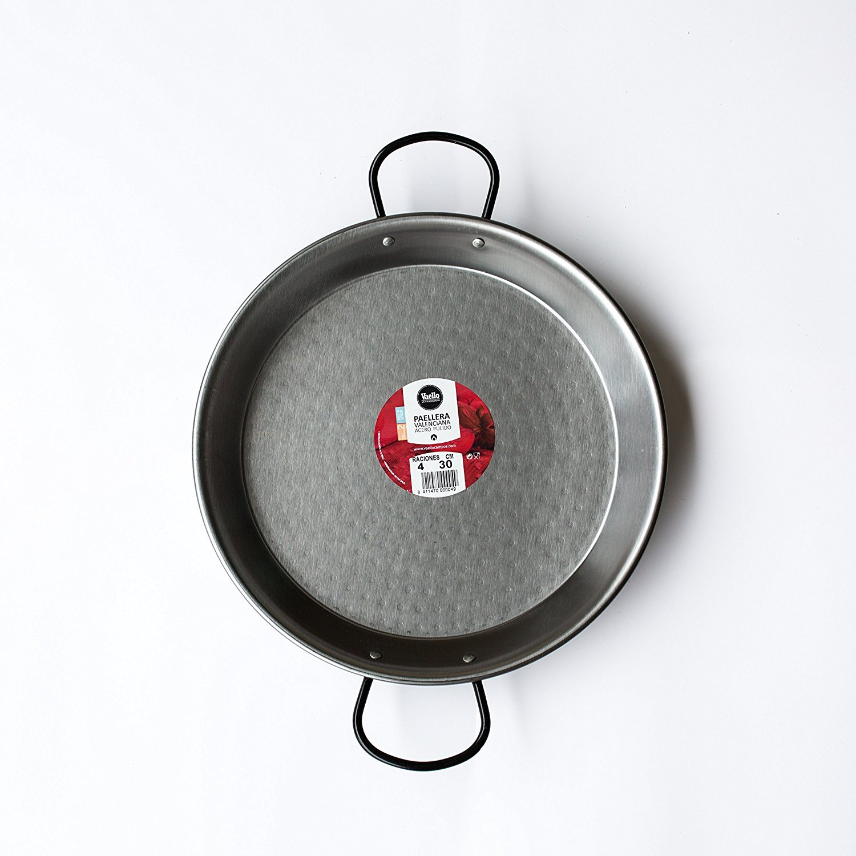 Vaello Campos La Valenciana 30cm Polished Steel Paella Pan KitchenCenter 101