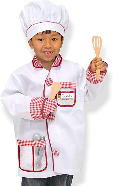 Utensils and Apron Beverly Hills Cooking and Baking Chef Role Play Dress up Set for Kids 12 Piece Pretend Playset with Cookbook 12 Recipes