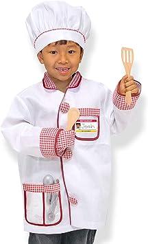 Melissa & Doug- Chef Disfraz para Niños, Multicolor, pequeña ...