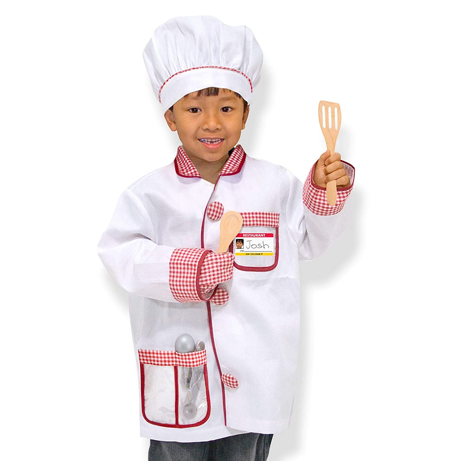 "Melissa & Doug Chef Role-Play Costume Set, Pretend Play, Materials, Machine-Washable, 17.5"" H x 24"" W x 0.75"" L"