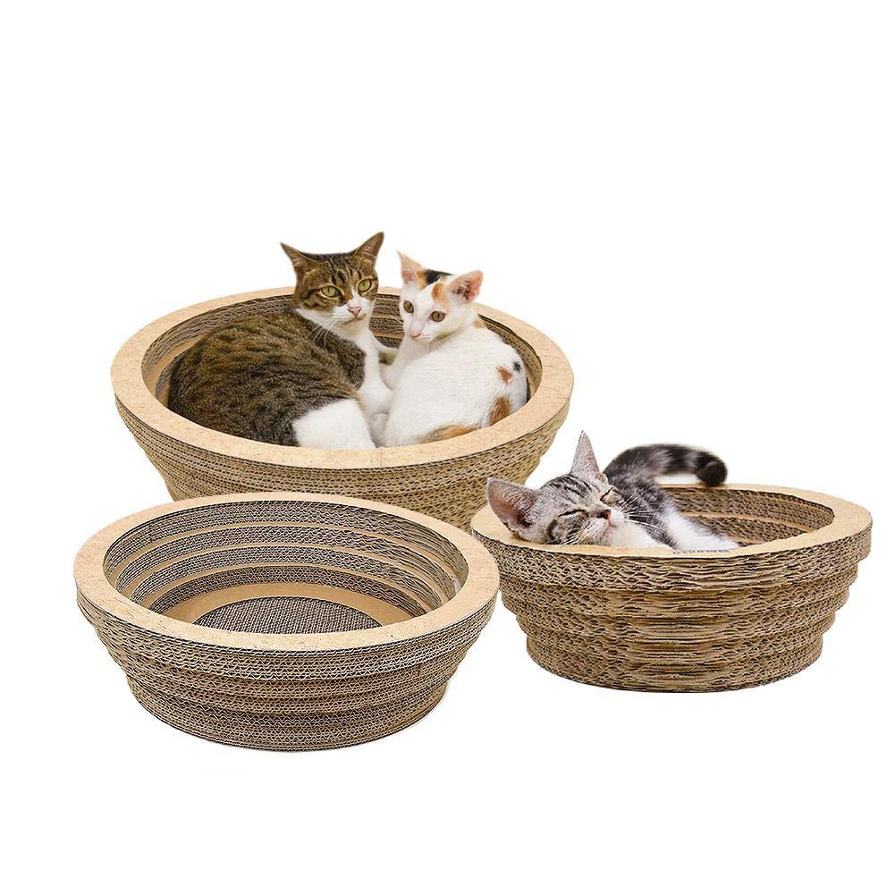 waroomss griffoirs para gatos, gato griffoirs, cartón ondulado para gato, gato tabla de rascar, juguete antiarañazos (cartón ondulado para rascar y se ...