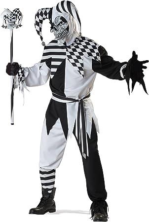 Disfraz de arlequín maléfico negro y blanco M: Amazon.es: Juguetes ...