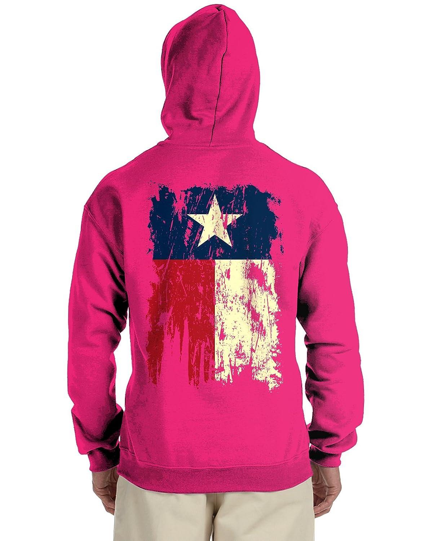Zip Up Hoodie Distressed Texas Flag Hooded Sweatshirt for Men