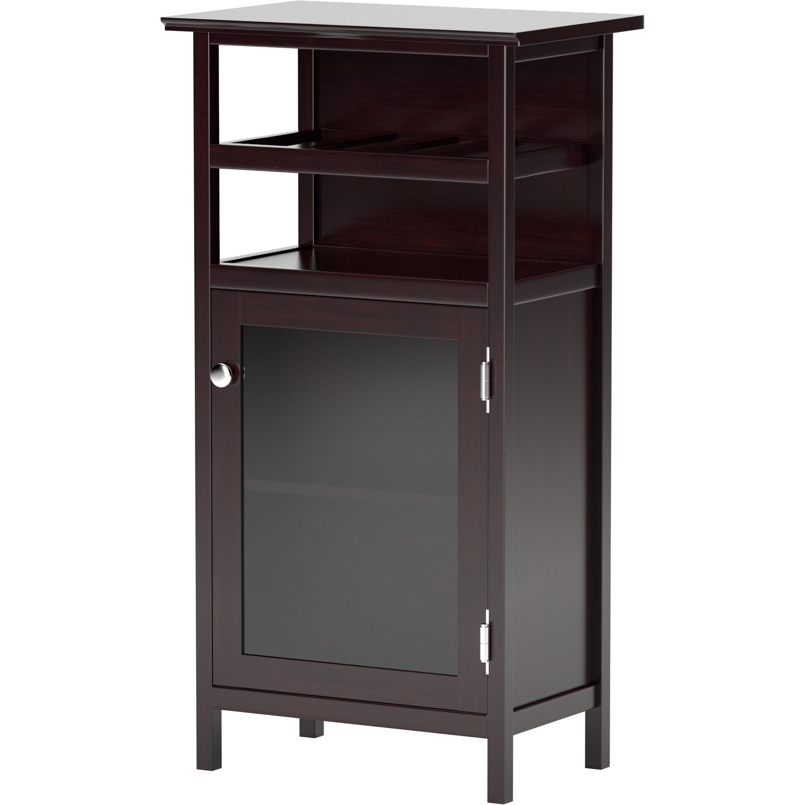 Alta 8 Bottle Floor Wine Cabinet with 2 Interior Shelves Made w/ Manufactured Wood in Espresso Finish 37.48'' H x 19.13'' W x 12.72'' D in.