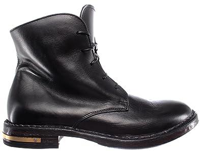 MOMA Damen Schuhe Stiefeletten 83705 R2 Pelle Leder Schwarz