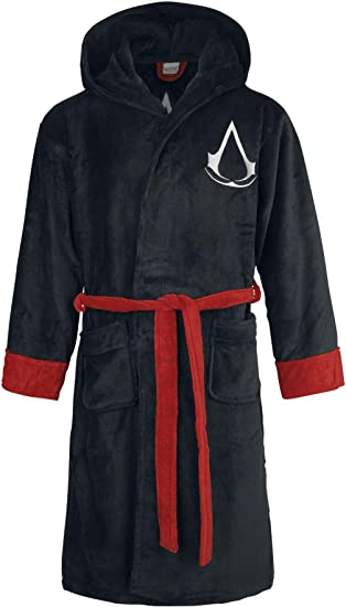 Assassins Creed Logo Bath Robe Black Amazon Ca Clothing