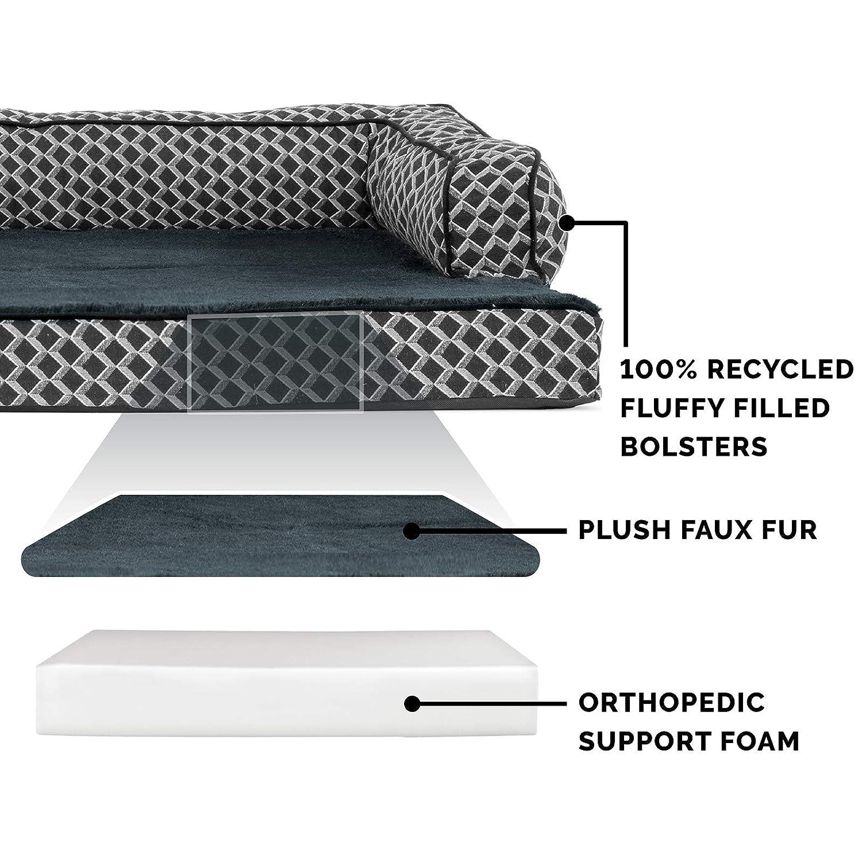 Amazon.com: Furhaven Cama para perro   Sofá ortopédico de ...