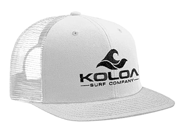 Amazon.com  Koloa Surf(tm) Mesh Back Wave Logo Trucker Hat in Black with  White Logo  Clothing b8d98048e04