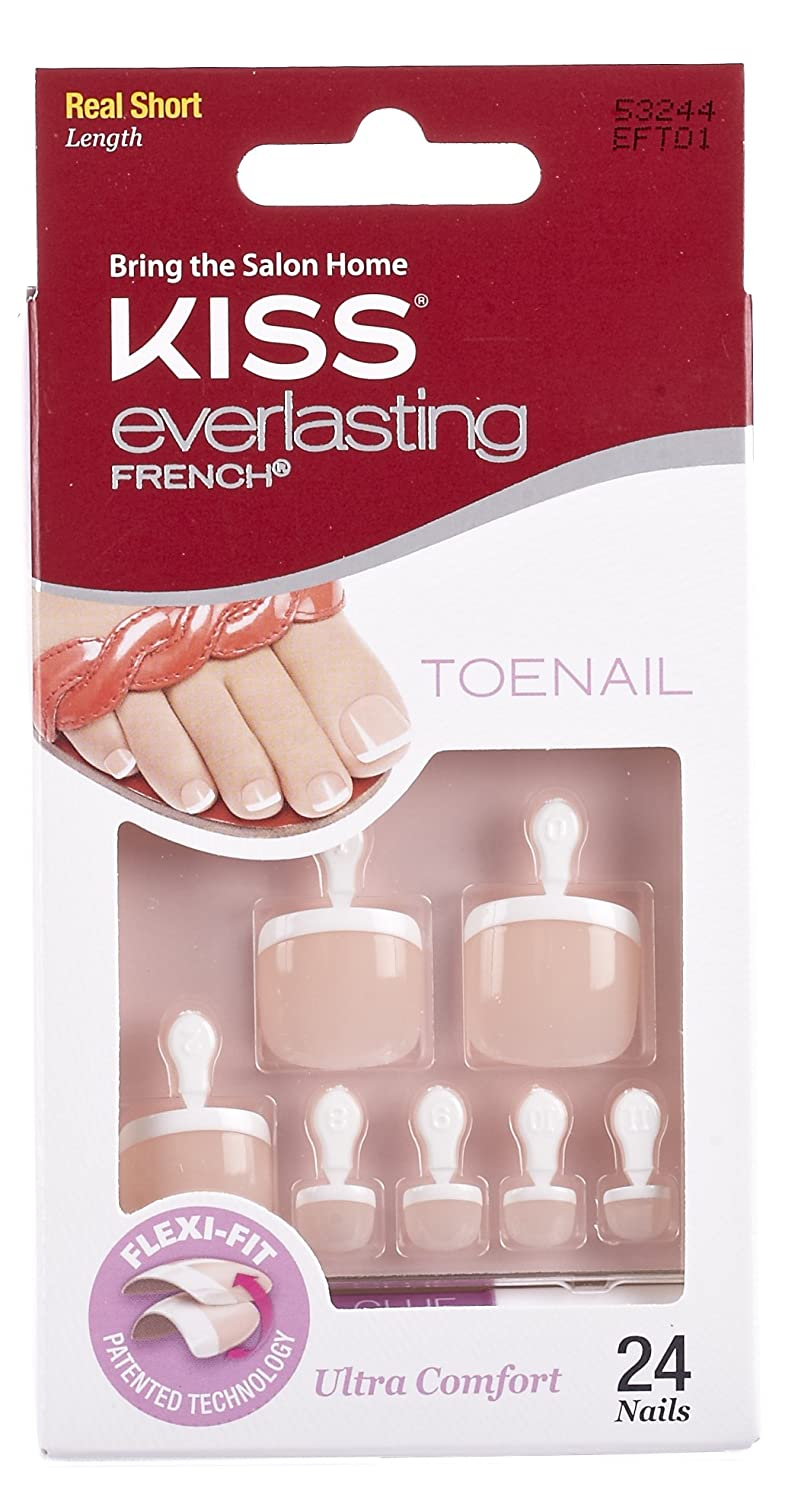 Amazon.com : Kiss Products Everlasting French Toenail Limitless Kit ...