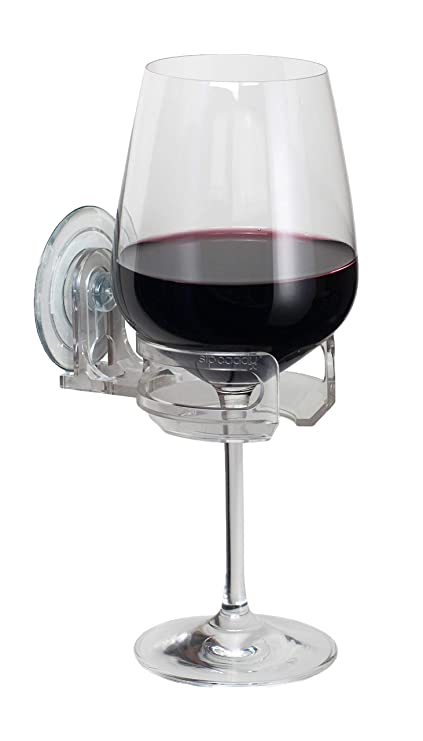 66357b32f47e Amazon.com  SipCaddy Bath   Shower Portable Cupholder Caddy for Beer   Wine  Suction Cup Drink Shower Beer Holder