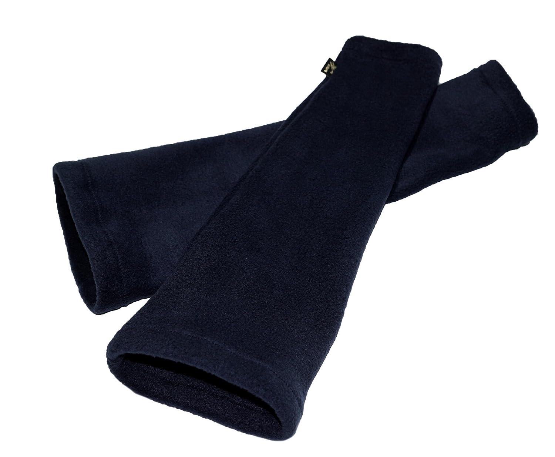 brit-M Label Long-Stulpen aus Fleece, Pulswärmer Cold Days in Dunkel-Blau • Handarbeit aus Deutschland