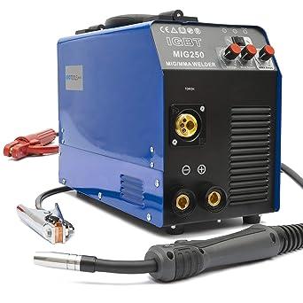MMA MIG-250G 250 Amper IGBT Profesionale 230V Saldatrice Inverter MIG//MAG