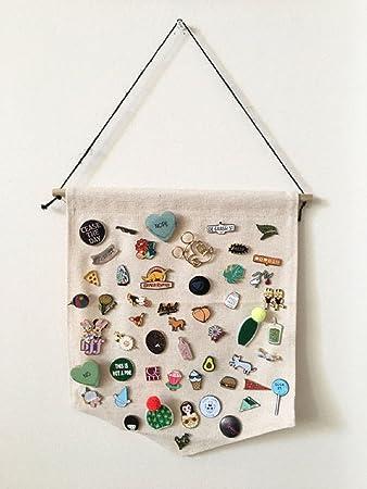 Amazon com: Opmnla Pin Badge Display Pin Collection Canvas