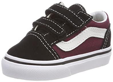 Vans Old Skool V Toddler Trainers Black Burgundy - 3.5 UK 6e5ab8e73