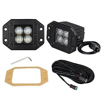 Amazoncom Flush Mount LightOffroad Town 2 Pcs 12V 24W 7D LED