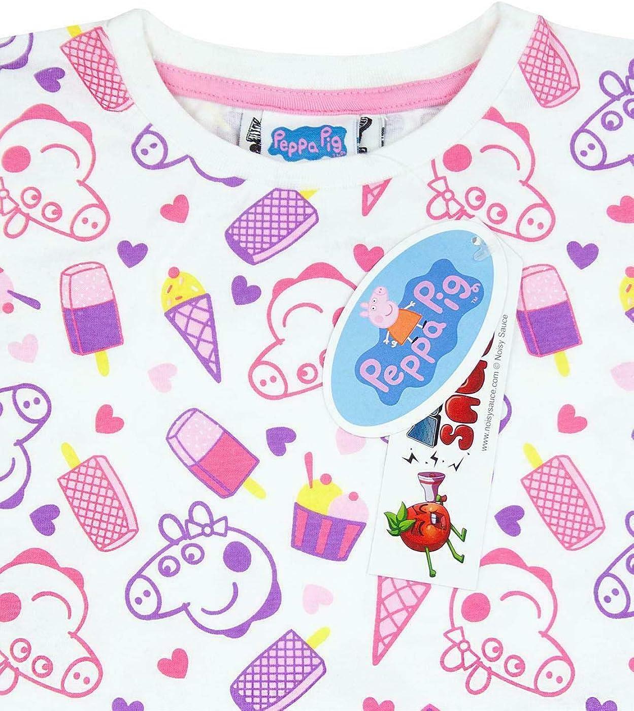 Noisy Sauce Peppa Pig all Over Print Girls T-Shirt