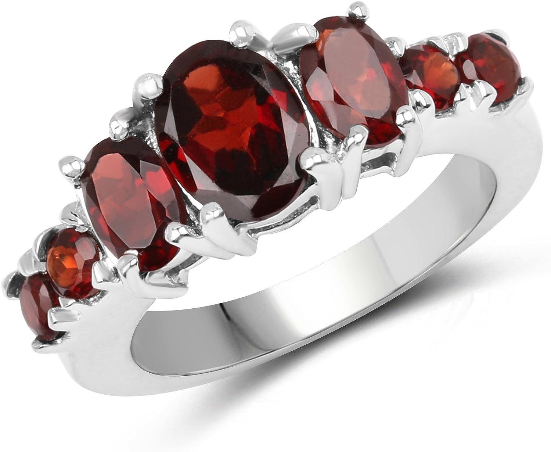 Stunning Genuine Garnet ring sz 5