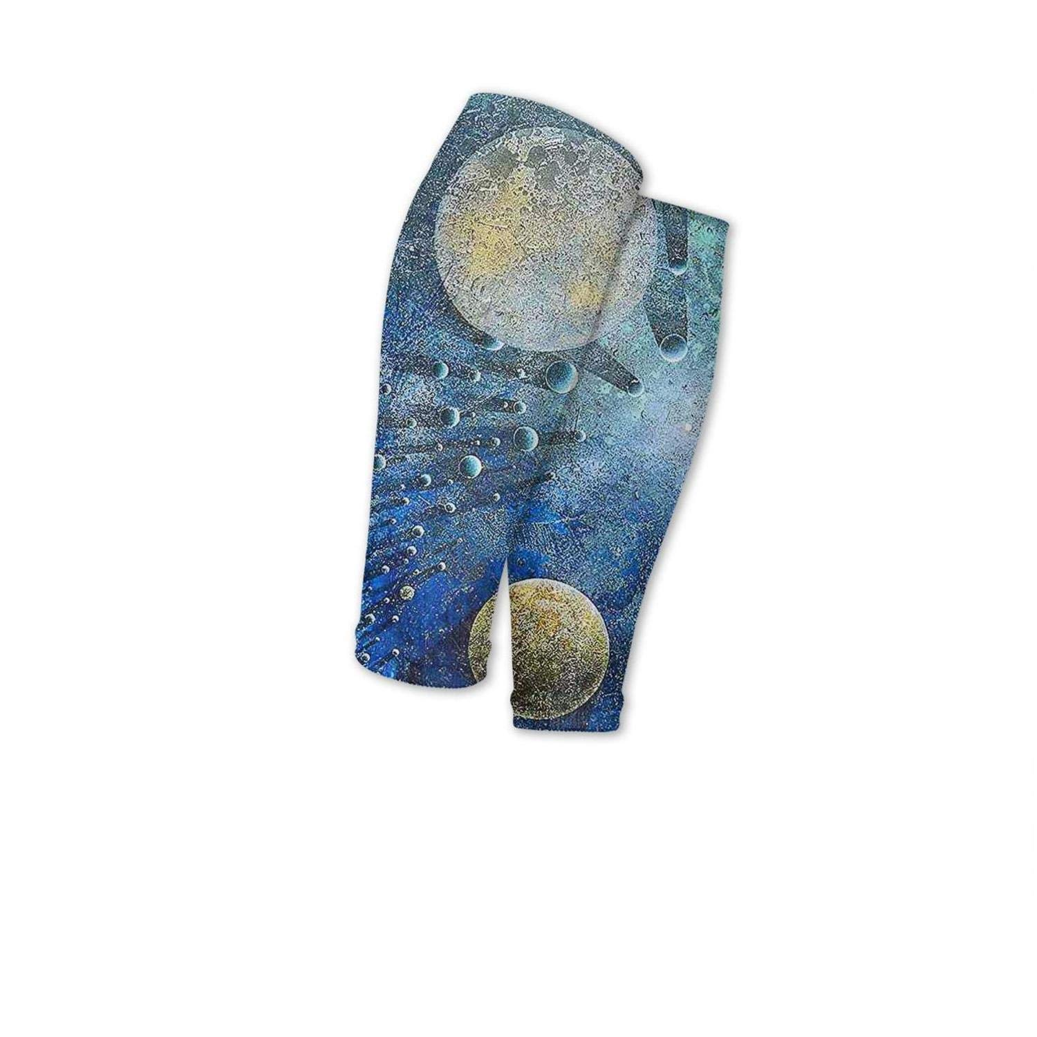 Smilelolly Colorful Space galaxy Star Nebula Calf Compression Sleeves Helps Faster Recovery Leg Sleeves for Men Women