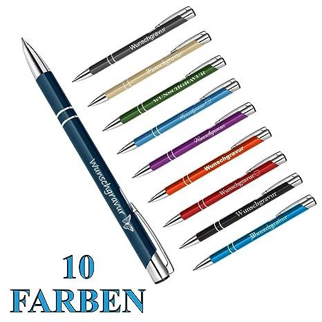 Farbe schwarz 10 Kugelschreiber aus Metall