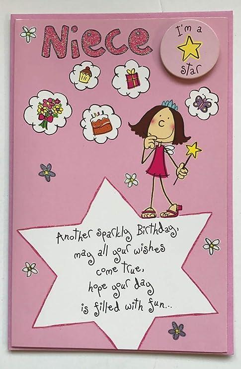 Amazon.com: Feliz Cumpleaños Niece Tarjeta De Felicitación ...