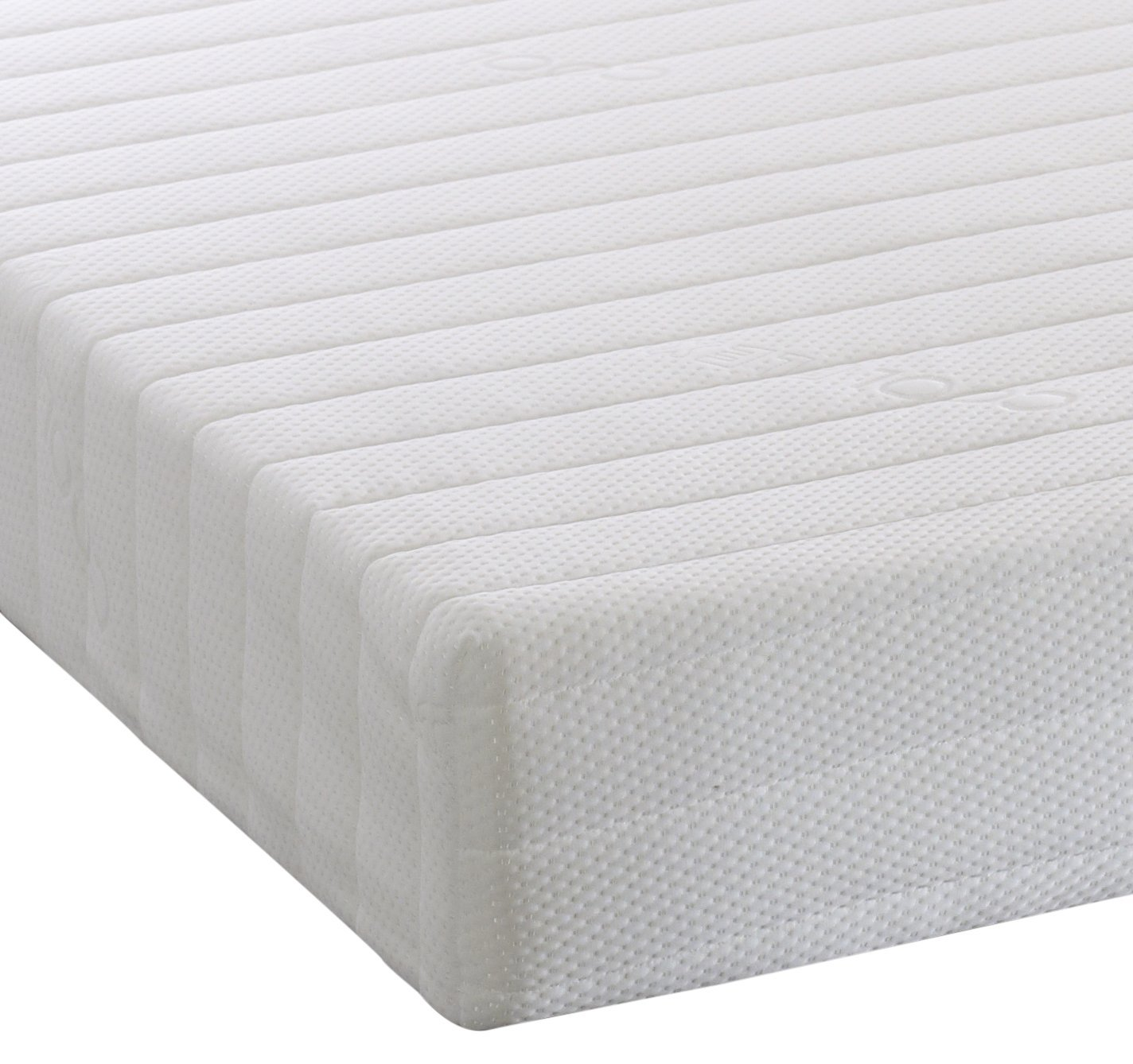 Small Single (75 x 190 cm) Visco Therapy Memory Foam and Reflex 5 Zone Rolled Mattress with Quilted Cover and Pillows - Small Double