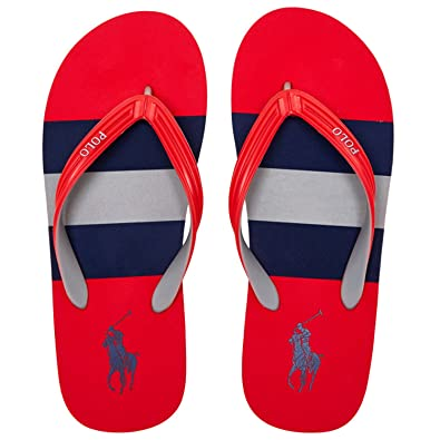 0565c2032cd5 Polo Ralph Lauren Red Whitlebury II Flip Flops (10 UK