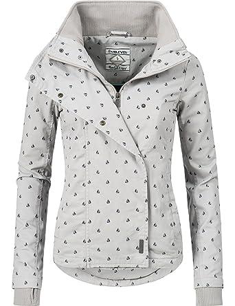 Sublevel Damen leichte Frühlingsjacke mit Kapuze Übergangs Jacke 43307A 3  Farben XS-XL  Amazon.de  Bekleidung 87cdc78903