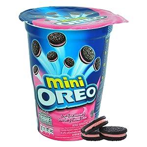 Oreo Mini Strawberry Flavoured Cream, 67G